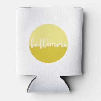ボルティモア、メリーランド|の黄色くグラデーションな書道 缶クーラー