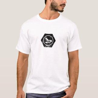 ボルトで固定されたロゴ Tシャツ