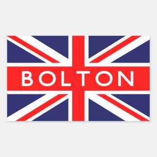 ボルトン: イギリスの旗 長方形シール