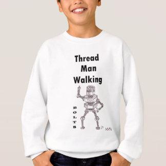 ボルト-糸の人の歩く スウェットシャツ