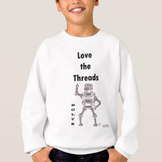 ボルト-糸を愛して下さい スウェットシャツ