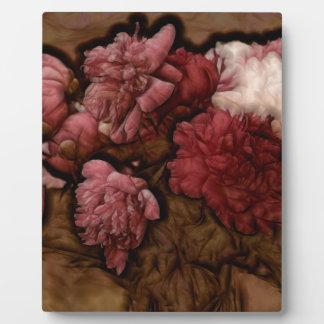 ボルドーのシャクヤクの花の花束 フォトプラーク