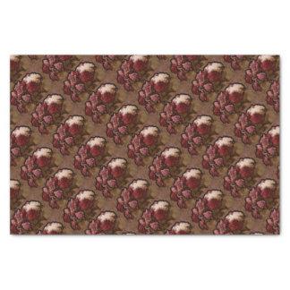 ボルドーのシャクヤクの花の花束 薄葉紙