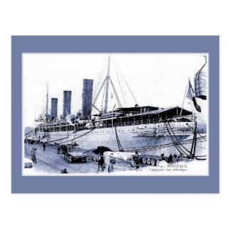 ボルドーのヴィンテージの遠洋定期船SS Burdigala ポストカード