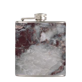 ボルドーのGrisso険しい石造りパターン背景- フラスク