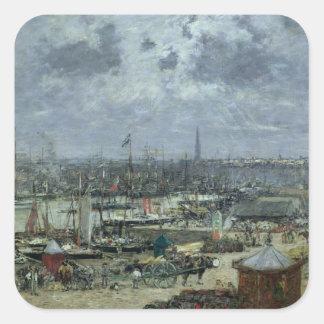 ボルドー1874年の港 スクエアシール