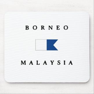 ボロネオマレーシアのアルファ飛び込みの旗 マウスパッド