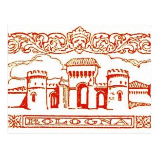 ボローニャのイタリアの旧式なヴィンテージの芸術のwoodcarvingのシール ポストカード