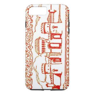 ボローニャのイタリアの旧式なヴィンテージの芸術のwoodcarvingのシール iPhone 8 plus/7 plusケース