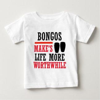 ボンゴのデザイン ベビーTシャツ
