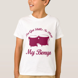 ボンゴのミュージカルのデザイン Tシャツ