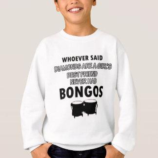ボンゴの楽器のデザイン スウェットシャツ