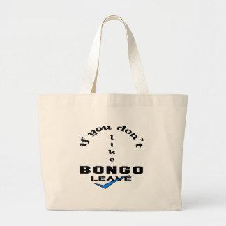 ボンゴの許可を好まなければ ラージトートバッグ