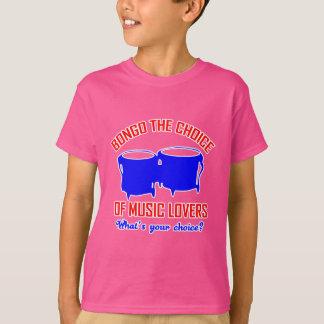 ボンゴ音楽愛好者の選択 Tシャツ