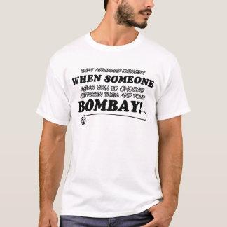 ボンベイのおもしろいなデザイン Tシャツ