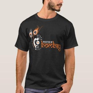 ボンベイのロゴのワイシャツのオレンジで無駄にされる Tシャツ