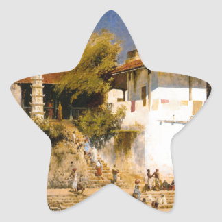 ボンベイのWalkeschwarの寺院そしてタンク 星シール