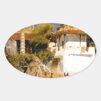 ボンベイのWalkeschwarの寺院そしてタンク 楕円形シール
