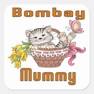 ボンベイ猫のお母さん スクエアシール