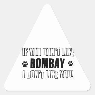 ボンベイ猫のデザイン 三角形シール