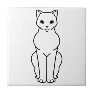 ボンベイ猫の漫画 正方形タイル小