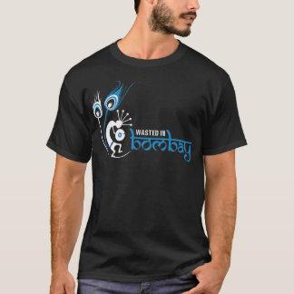 ボンベイ-ロゴのワイシャツで無駄にされる-青 Tシャツ