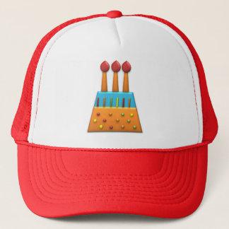 ボンボン菓子のパーティーの虹のお誕生日ケーキのオレンジ キャップ
