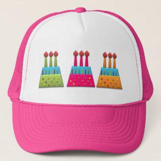 ボンボン菓子のパーティーの虹のお誕生日ケーキのカラフル キャップ