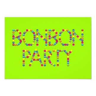ボンボン菓子のパーティーの虹の誕生日のパーティの招待状 カード
