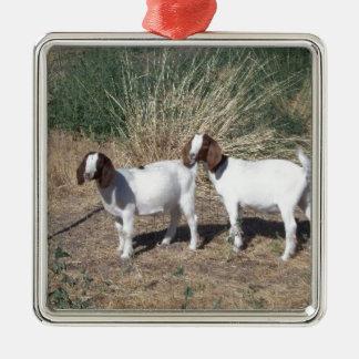 ボーア人のヤギの子供 メタルオーナメント
