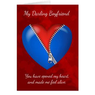 ボーイフレンド、ジッパーが付いているモダンなバレンタインデーカード カード