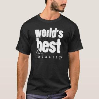 ボーカリストの世界で最も最高のでグランジな黒 Tシャツ