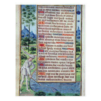 ボーダーが付いているラテン系の文字のページ ポストカード