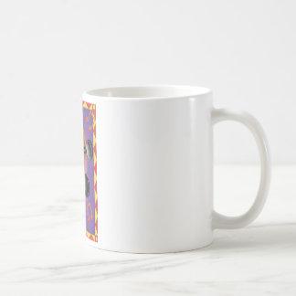 ボーダーが付いている止め枠 コーヒーマグカップ