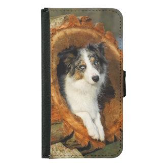 ボーダーコリーかわいい犬動物の写真 GALAXY S5 ウォレットケース