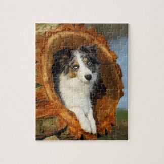 ボーダーコリーのかわいい犬 ジグソーパズル