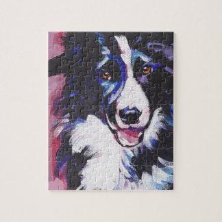 ボーダーコリーのカラフルの破裂音犬の芸術 ジグソーパズル