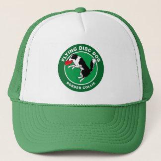 ボーダーコリーのフライングディスク犬のトラック運転手の帽子 キャップ