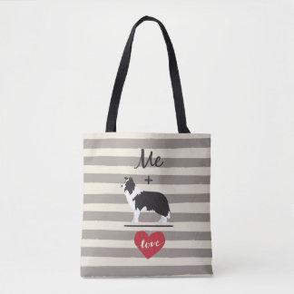 ボーダーコリーの同輩愛かわいいトートと私 トートバッグ