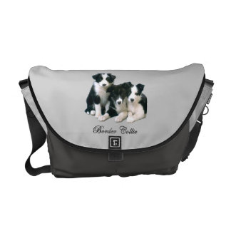ボーダーコリーの子犬 メッセンジャーバッグ