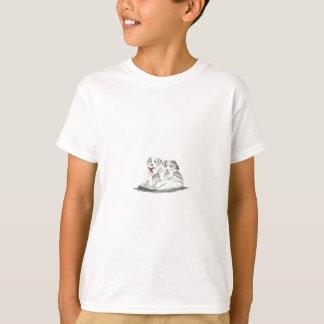 ボーダーコリーの子犬 Tシャツ