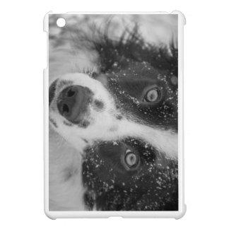 ボーダーコリーの最初雪 iPad MINI CASE