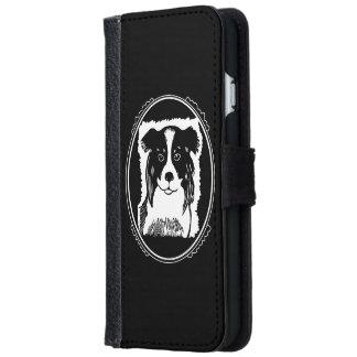 ボーダーコリーのDecoのボーダー黒の電話ウォレットケース iPhone 6/6s ウォレットケース