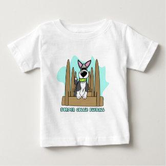 ボーダーコリーのFlyballのベビーのTシャツ ベビーTシャツ