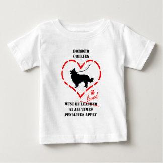 ボーダーコリーは愛されなければなりません ベビーTシャツ