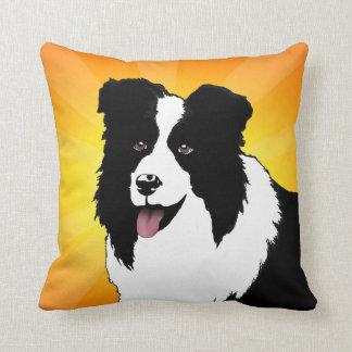ボーダーコリー犬のポップアートの枕オリジナルのアートワーク クッション