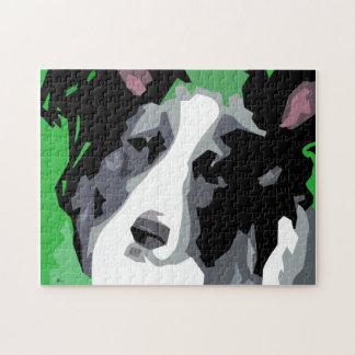 ボーダーコリー犬の恋人のギフト ジグソーパズル