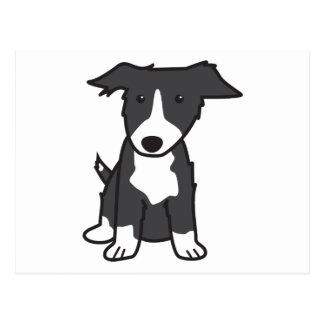 ボーダーコリー犬の漫画 ポストカード