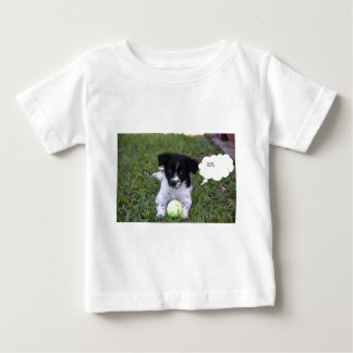 ボーダーコリー犬田園クイーンズランドオーストラリア ベビーTシャツ