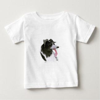 ボーダーコリー犬、贅沢なfernandes ベビーTシャツ